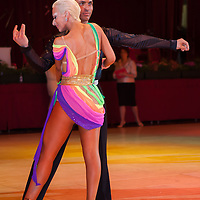 Gaetano Sentina and Eleonora Boccalari from Italy perform their dance during the Ameteur Latin-american Rising Stars Competition of the Blackpool Dance Festival that is the most famous event among dance competitions held in Empress Ballroom Wintergardens, Blackpool, United Kingdom. Tuesday, 27. May 2008. ATTILA VOLGYI