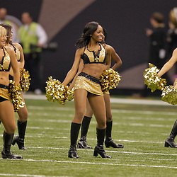 2009 October 18: New Orleans Saints Saintsations cheerleaders perform on the field during a 48-27 win by the New Orleans Saints over the New York Giants at the Louisiana Superdome in New Orleans, Louisiana.