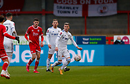 Leeds United defender Ezgjan Alioski (10)  during the The FA Cup match between Crawley Town and Leeds United at The People's Pension Stadium, Crawley, England on 10 January 2021.