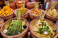Japon, île de Honshu, région de Kansaï, Kyoto, marché de Nishiki // Japan, Honshu island, Kansai region, Kyoto, Nishiki market