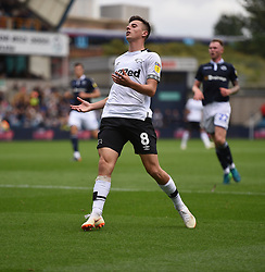 Derby County's Mason Mount shows frustration