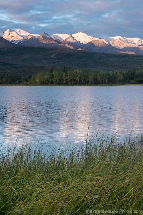 Alpenglow on Primrose Ridge above Otto Lake, Healy, Alaska