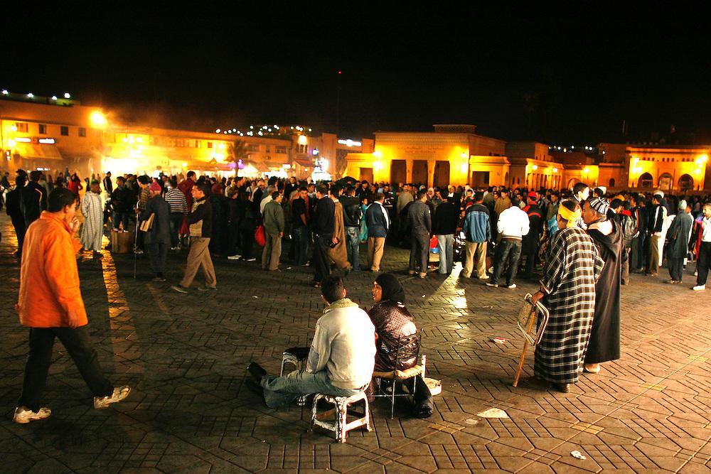 Marrakesh, Morocco. October 9th 2008..Square Djemaa El Fna or Place Jamaa El Fna....