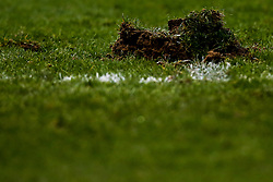 The pitch at The AJ Bell Stadium cuts up - Mandatory by-line: Robbie Stephenson/JMP - 02/03/2019 - RUGBY - AJ Bell Stadium - Manchester, England - Sale Sharks v Exeter Chiefs - Gallagher Premiership Rugby