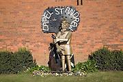 Paul Richardson millenium sculpture Capel St Andrew, Suffolk, England