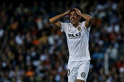 October 7, 2018 - Valencia, Valencia, Spain - Dani Parejo of Valencia CF reacts during the La Liga match between Valencia CF and FC Barcelona at Mestalla on October 7, 2018 in Valencia, Spain  (Credit Image: © David Aliaga/NurPhoto/ZUMA Press)