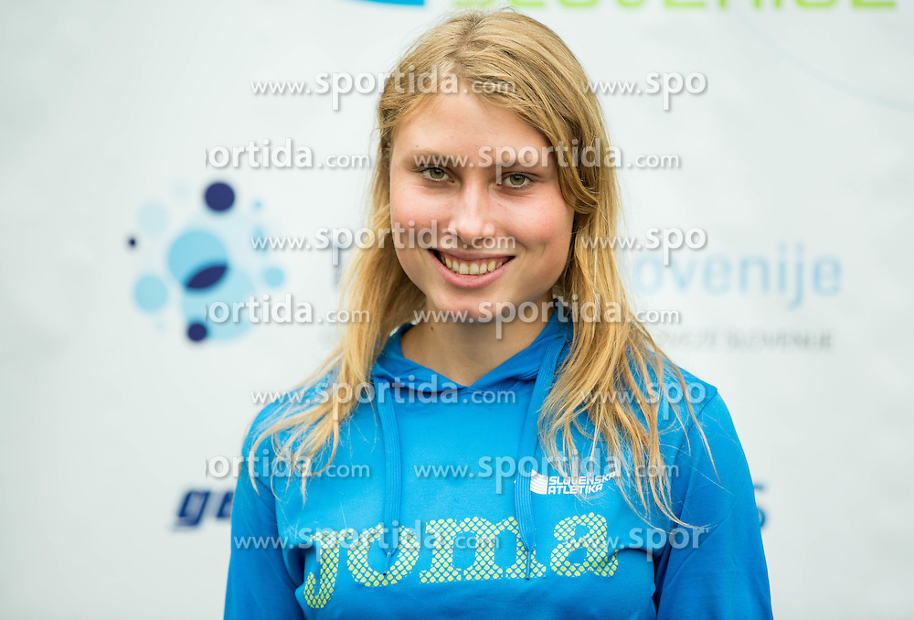 Marusa Mismas during press conference when Slovenian athletes and their coaches sign contracts with Athletic federation of Slovenia for year 2016, on February 25, 2016 in AZS, Ljubljana, Slovenia. Photo by Vid Ponikvar / Sportida
