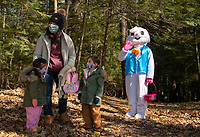 Egg Hunt and Story walk through Gilford's Nature Trail put on by Gilford Parks and Recreation, Gilford Public Library and Gilford Community Center.   ©2021 Karen Bobotas Photographer
