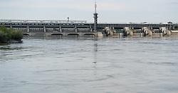 THEMENBILD - Bootfahrt auf der Donau und Donaukanal in Wien. das Bild wurde am  30. Juli 2012 aufgenommen. im Bild Donaukraftwerk Freudenau // THEME IMAGE FEATURE - boating on danube and danubechannel in vienna. The image was taken on july, 30, 2012. Picture shows Danube power plant Freudenau, AUT, EXPA Pictures © 2012, PhotoCredit: EXPA/ M. Gruber