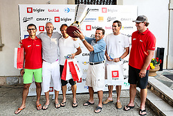 Winning team at Anze's Eleven and Triglav Charity Golf Tournament, on June 30, 2012 in Golf court Bled, Slovenia. (Photo by Matic Klansek Velej / Sportida)