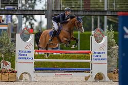 Van Mierlo Maikel, NED, Kaomi<br /> Nationaal Kampioenschap KWPN<br /> 5 jarigen springen final<br /> Stal Tops - Valkenswaard 2020<br /> © Hippo Foto - Dirk Caremans<br /> 19/08/2020