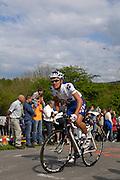 Belgium, Liege - Sunday, April 26, 2009: Jérémy Roy (Francaise des Jeux) on the climb of the Côte de la Redoute during the Liege Bastogne Liege 2009 cycle race. (Image by Peter Horrell / http://peterhorrell.com)