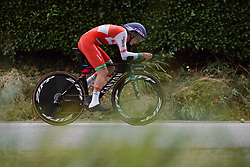 Alena Amialiusik (BLR) at the 2020 UEC Road European Championships - Elite Women ITT, a 25.6 km individual time trial in Plouay, France on August 24, 2020. Photo by Sean Robinson/velofocus.com