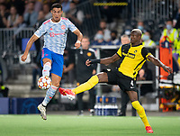BERN, SWITZERLAND - SEPTEMBER 14: Mohamed Ali Camara of BSC Young Boys and Cristiano Ronaldo of Manchester United during the UEFA Champions League group F match between BSC Young Boys and Manchester United at Stadion Wankdorf on September 14, 2021 in Bern, Switzerland. (Photo by FreshFocus/MB Media)
