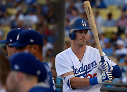 June 20, 2017 - Los Angeles, California, U.S. - Los Angeles Dodgers' Cody Bellinger in the first inning of a Major League baseball game against the New York Mets at Dodger Stadium on Tuesday, June 20, 2017 in Los Angeles. (Photo by Keith Birmingham, Pasadena Star-News/SCNG) (Credit Image: © San Gabriel Valley Tribune via ZUMA Wire)