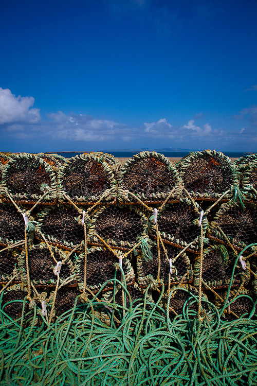 """Lobster pots in Fahamore Harbour, Co, Kerry, Ireland This mage can be licensed via Millennium Images. Contact me for more details, or email mail@milim.com For prints, contact me, or click """"add to cart"""" to some standard print options."""