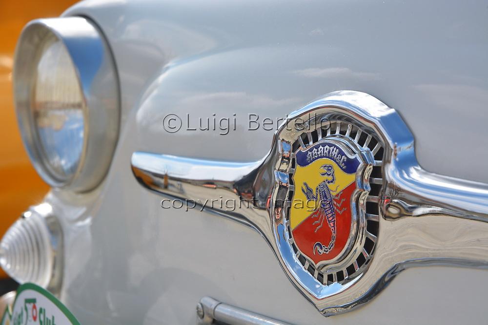 Castelnuovo don Bosco, Piedmont/Italy- 03/10/2019-Meeting of old Fiat 500 Italian classic cars.