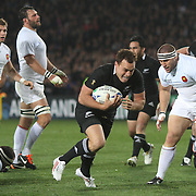in action during the New Zealand V France, Pool A match during the IRB Rugby World Cup tournament. Eden Park, Auckland, New Zealand, 24th September 2011. Photo Tim Clayton...