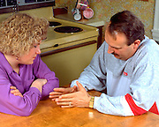 17 year old daughter and father age 50 discussing problem.  St Paul Minnesota USA