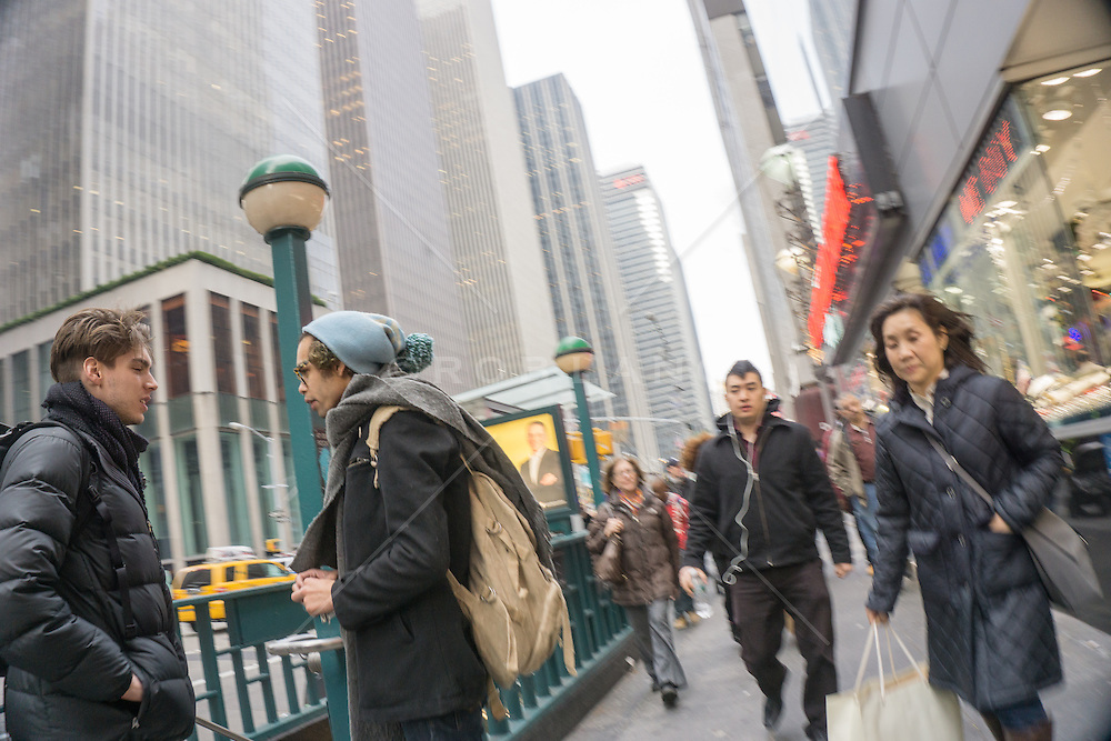 people on the go in New York City