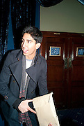 DEV PATEL, Press night for Jerusalem. Apollo Theatre. Shaftesbury ave. After party at the Cafe de Paris. London. 10 February 2010