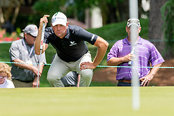 May 4, 2019 - Charlotte, NC, U.S. - CHARLOTTE, NC - MAY 04: Lucas Glover reads the 3rd green  during the third round of the Wells Fargo Championship at Quail Hollow on May 4, 2019 in Charlotte, NC. (Photo by William Howard/Icon Sportswire) (Credit Image: © William Howard/Icon SMI via ZUMA Press)