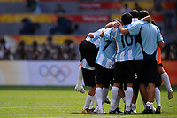 Argentina players celebrate at the end of the Olympic Games final. Argentina beats Nigeria 1-0 and won the gold medal <br /> National Indoor - Bird Nest - Football - Calcio<br /> Pechino - Beijing 23/8/2008 Olimpiadi 2008 Olympic Games<br /> Foto Andrea Staccioli Insidefoto