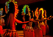 Image of native hula dancers in Papeete, Tahiti, French Polynesia by Randy Wells