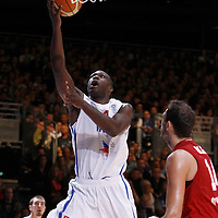 27 August 2011: Florent Pietrus is seen during the friendly game won 74-44 by France over Belgium, in Lievin, France.
