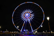 The great wheel of Paris in the colors of France following the attacks of 13 November 2015 Paris <br /> ©Exclusivepix Media