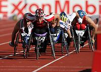 Friidrett , 15. juni 2007 , Golden League Bislett Games , <br /> <br /> Rullestol , Edde Blichfeldt , Danmark