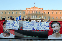 June 20, 2017 - Athens, Greece - A flood of protestors of all ages gathered at Syntagma Square calling for the resignation of the Greek government. The anti-government rally, was organized on social media by the new ''Resign'' movement. (Credit Image: © Aristidis Vafeiadakis via ZUMA Wire)