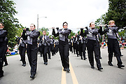 The Oregon Marching Band marches in the Summerfest Parade in Oregon, Wisconsin on June 27, 2010.