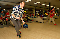 LHS Bowling Team challenge the LHS Faculty  at Funspot Bowling Lanes January 24, 2013.  (Karen Bobotas/for the Laconia Daily Sun)