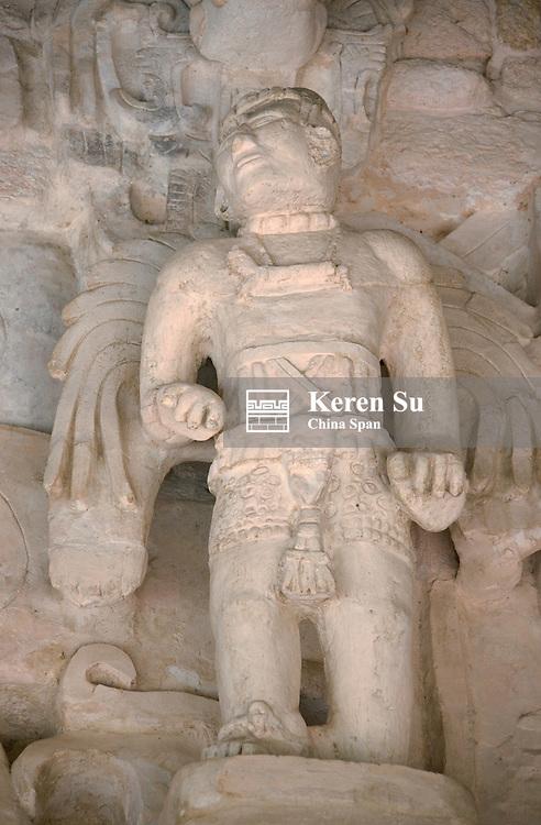 Winged Maya Warriors at Mayan ruins of Ek Balam, Yucatan, Mexico