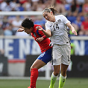 Seo-yeon Shim, (left) and Morgan Brian, U.S. Women's National Team, challenge for the ball during the U.S. Women's National Team Vs Korean Republic, International Soccer Friendly in preparation for the FIFA Women's World Cup Canada 2015. Red Bull Arena, Harrison, New Jersey. USA. 30th May 2015. Photo Tim Clayton