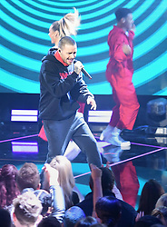 Liam Payne performing at the Brit Awards 2018 Nominations event held at ITV Studios on Southbank, London.