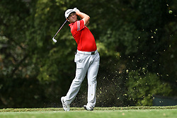 September 24, 2017 - Atlanta, Georgia, United States - Jon Rahm tees off the second hole during the final round of the TOUR Championship at the East Lake Club. (Credit Image: © Debby Wong via ZUMA Wire)