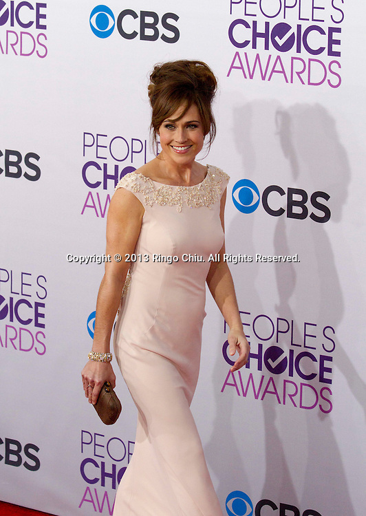 Nikki Deloach arrives at the 39th Annual People's Choice Awards at Nokia Theatre L.A. Live on Wednesday January 9, 2013 in Los Angeles, California, United States. (Photo by Ringo Chiu/PHOTOFORMULA.com)