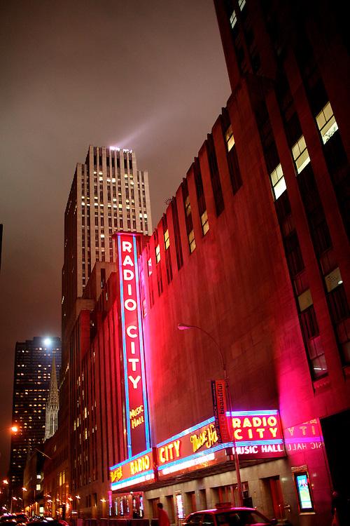 Radio City Music Hall.  Manhattan. New York. USA.