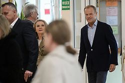 May 26, 2019 - Sopot, Pomerania, Poland - President of European Council Donald Tusk seen during the European Parliament elections..The 2019 European Parliament elections in Poland will elect the Polish delegation to the European Parliament. (Credit Image: © Mateusz Slodkowski/SOPA Images via ZUMA Wire)