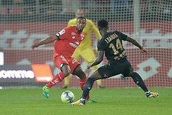 September 16, 2017 - Dijon - Stade Gaston Gerard, France - Wesley Said (dijon) vs Jonathan Bamba  (Credit Image: © Panoramic via ZUMA Press)