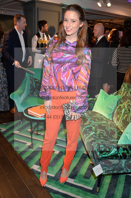 KELLY EASTWOOD at the Duresta For Matthew Williamson Exclusive Launch At Harrods, Knightsbridge, London on 10th March 2016.