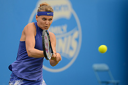 June 21, 2017 - Birmingham, England - LUCIE SAFAROVA of the Czech Republic in her second round match v. N. Osaka in the Aegon Classic Birmingham tennis tournament. (Credit Image: © Christopher Levy via ZUMA Wire)