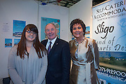 NO FEE PICTURES<br /> 23/1/16 Minister for Tourism Michael Ring and Maureen Ledwith, organiser of the Holiday World Show at the Ballincastle Properties stand at the Holiday World Show at the RDS in Dublin. Picture: Arthur Carron