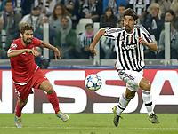 Sami Khedira Juventus, Coke Sevilla,<br /> Torino 30-09-2015, Juventus Stadium, Football Calcio 2015/2016 Champions League, Juventus - Sevilla/Siviglia, foto Filippo Alfero/Insidefoto