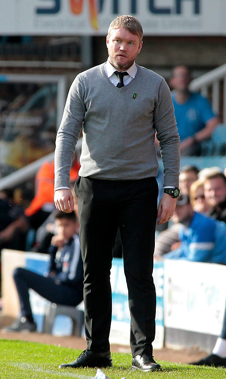 Peterborough United manager Grant McCann looks on from the touchline<br /> <br /> Photographer David Shipman/CameraSport<br /> <br /> The EFL Sky Bet League One - Peterborough United v Gillingham - Saturday 14th October 2017 - London Road Stadium - Peterborough<br /> <br /> World Copyright © 2017 CameraSport. All rights reserved. 43 Linden Ave. Countesthorpe. Leicester. England. LE8 5PG - Tel: +44 (0) 116 277 4147 - admin@camerasport.com - www.camerasport.com