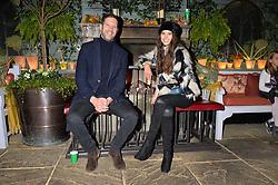 Tom Macklin and Sarah Ann Macklin at The Ivy Chelsea Garden's Guy Fawkes Party, 197 King's Road, London, England. 05 November 2017.
