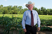 Justice Sam Griffith photographed at a garden in Tyler, Texas on July 12, 2013. The garden, which Griffith helped found, is maintained by inmates from the Smith County Jail and has produced more than 150,000 pounds of fresh produce for needy East Texans since 2010. (Cooper Neill / for The Texas Tribune)