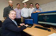 11/07/2017  REPRO FREE:      Minister of State Pat Breen, Department of Enterprise and Innovation, and Barry Egan Enterprise Ireland meet with some of the Bluedrop Medical Team  on a visit to the iHub at the  GMIT . Photo:Andrew Downes, xposure .